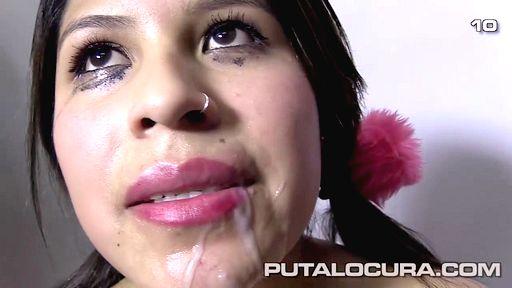 Мужики после отсоса сливают сперму в рот испанки